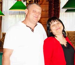 Діана Андріївна Цуркан учасниця «КЛУБУ МІЛЬЙОНЕРІВ «М.С.Л.» зі своїм чоловіком Андрієм Борисовичем